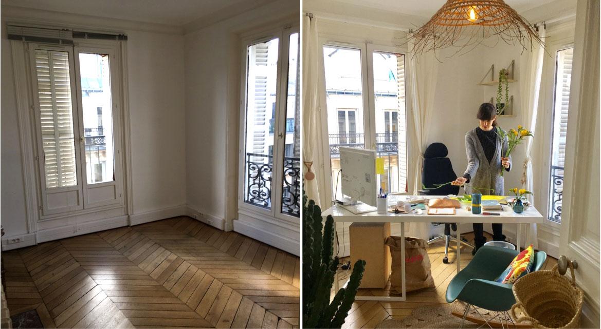 bureau avant-après