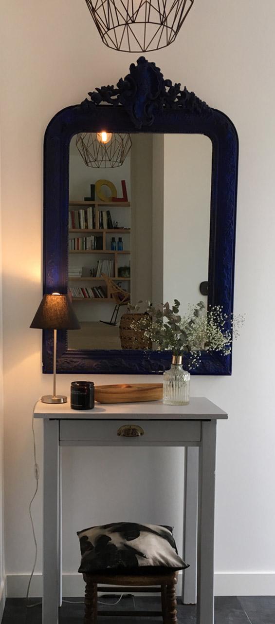 miroir ancien console