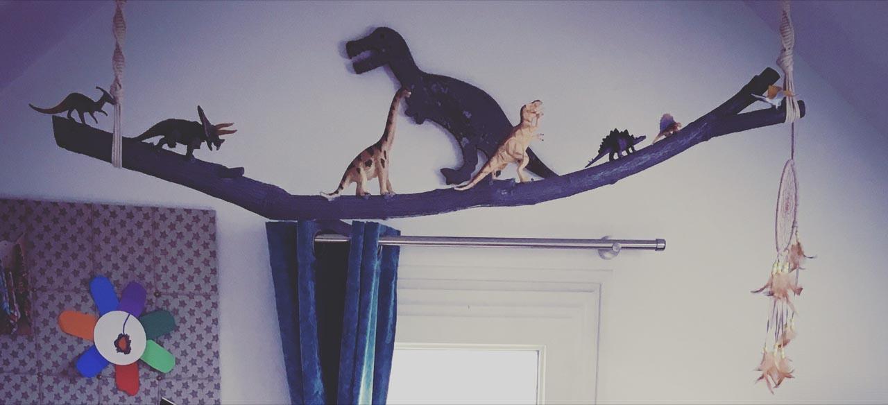 chambre enfant dinosaure